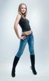Girl in jeans Stock Image