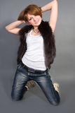 The girl in jeans Stock Photo