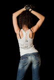 Girl in jeans from behind Royalty Free Stock Photo