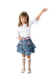 The girl in a jeans skirt Royalty Free Stock Photo
