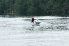 A girl on the jet ski. Stock Image