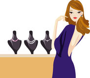 Girl and jewellery Stock Images