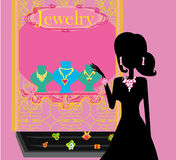 Girl and jewellerys Royalty Free Stock Images
