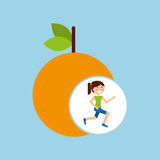 Girl jogger orange healthy lifestyle Royalty Free Stock Photography