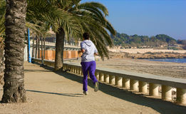 Girl jogging. Royalty Free Stock Image