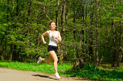 Girl Jogging Royalty Free Stock Photo