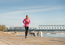Girl jogging Stock Image