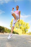 Girl jogging Royalty Free Stock Photos