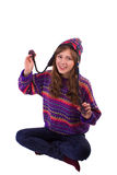 Girl jokes Royalty Free Stock Photography