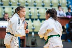 Girl judoka Royalty Free Stock Photos
