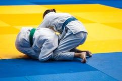 Girl judoka Stock Photography