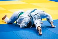 Girl judoka Royalty Free Stock Images