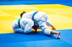 Girl judoka Stock Image