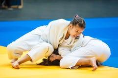 Girl judoka Royalty Free Stock Photo