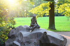 Girl with jug statue in Pushkin park St. Petersburg Royalty Free Stock Photography