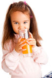 Girl with juice Royalty Free Stock Image