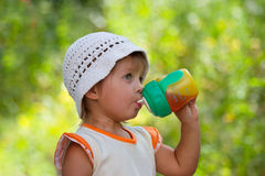Girl and juice Stock Photo