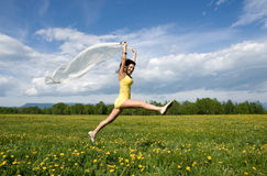 Girl jump Stock Images