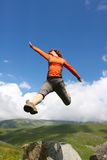 Girl jump Royalty Free Stock Image