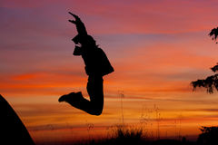 Girl jump Royalty Free Stock Photography