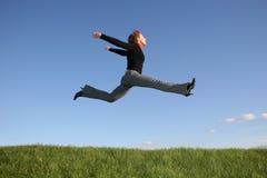 girl jump стоковые фото