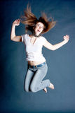 Girl in a jump Royalty Free Stock Images