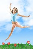 Girl in jump Royalty Free Stock Image