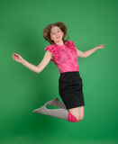 The girl in a jump Royalty Free Stock Photography