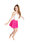 Girl in jump Royalty Free Stock Photography