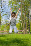 The girl in a jump Stock Photography