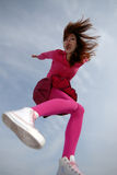 Girl in jump Royalty Free Stock Photo
