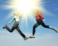 girl jump Стоковое Фото