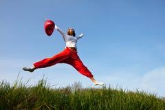 girl jump стоковая фотография