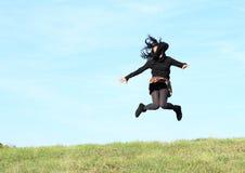 girl jump Стоковое Изображение RF