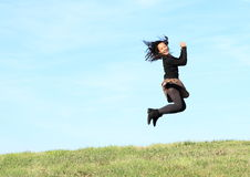 girl jump Стоковое Изображение