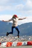 girl jump Стоковые Изображения RF