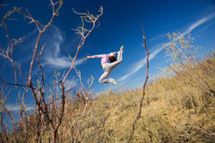Girl jump Stock Photos