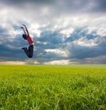 Girl jump Stock Image