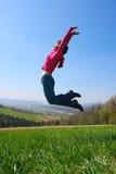 Girl jump Royalty Free Stock Photos