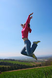 Girl jump Royalty Free Stock Images