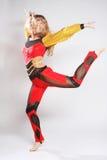 Girl jump in gymnastics dance Stock Photography
