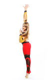 Girl jump in gymnastics dance Stock Photos