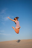 Girl jump high Royalty Free Stock Photo