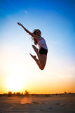 Girl jump high Royalty Free Stock Photos