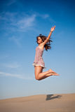 Girl jump high Royalty Free Stock Images