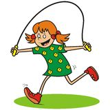 Girl and jump rope Royalty Free Stock Photos