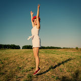 Girl jumped Royalty Free Stock Photography
