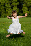 The girl jumped, in nature Stock Photography