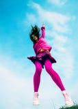Girl jumped Stock Photos
