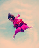 Girl jumped Royalty Free Stock Images